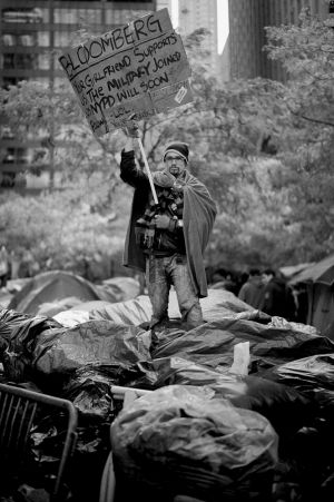 'Message to Bloomberg', Occupy Wall St. Protest, Zuccotti Park
