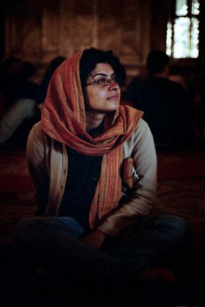 Dina at Mosque of Mohammed Ali, Cairo