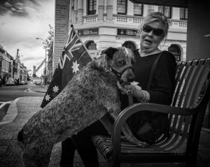 'Cara' on ANZAC Day in Fremantle