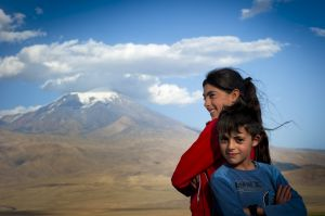 Kurdish children - Mt Ararat, North Eastern Anatolia, Turkey