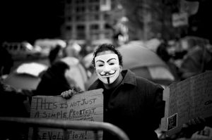 'Revolution!' - Occupy Wall Street Protest, Zuccotti Park, NYC